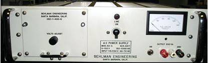 Picture of Behlman 50-A 500 VA 400 Hertz AC Power Source