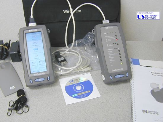 Picture of Agilent/HP Wirescope 350 CableCertificationTester with Dual Remote 350