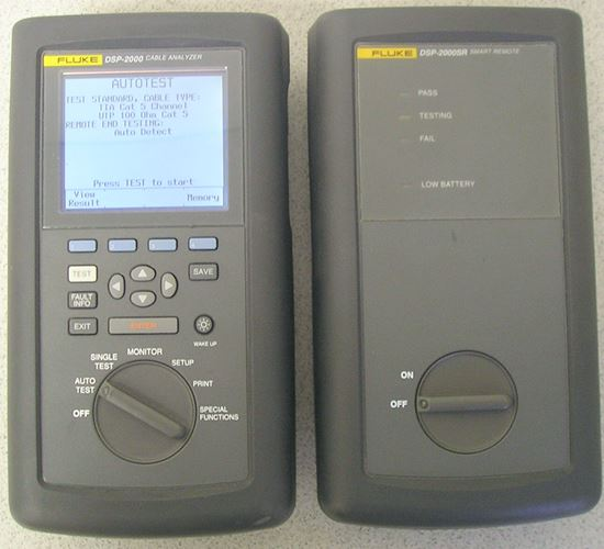 Picture of Fluke DSP-2000 Cat 5 Cable Tester