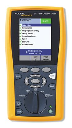 Picture of Fluke DTX-1800 Cable Analyzer