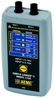Picture of AEMC L102 2-Channel TRMS Current Data Logger