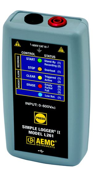 Picture of AEMC L261 TRMS AC/DC Simple Logger II
