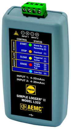 Picture of AEMC L322 4-20mA DC Current Simple Logger II