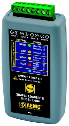 Picture of AEMC L404 4-Channel Event Simple Logger II