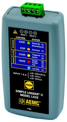 Picture of AEMC L432 DC+/-100mV/1V/10V DC Simple Logger II