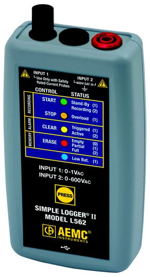 Picture of AEMC L562 2-Channel TRMS Voltage & Current Simple Logger II