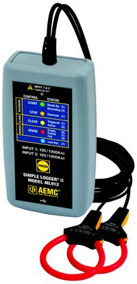 Picture of AEMC ML912 AC Current Simple Logger II (w/ Integral Probes)