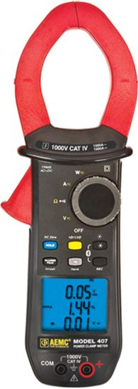 Picture of AEMC 407 High Current AC/DC Clamp-On Meter with Bluetooth