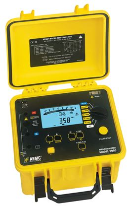 Picture of AEMC 5050 500V, 5000V Digital/Analog Megohmmeter