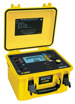 Picture of  AEMC 6505 500V, 1000V, 2500V, 5000V Digital Megohmmeter/Insulation Tester