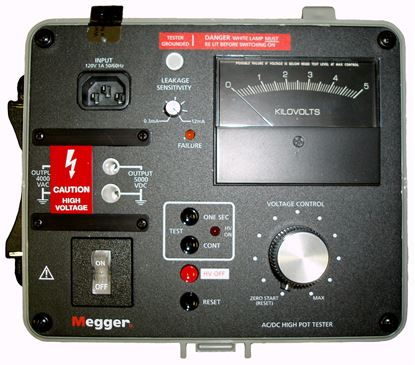 Picture of Megger 230425 4 KV AC 5 KV DC Highpot New