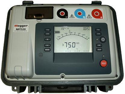 Picture of Megger MIT520 5 Kilovolt Insulation Tester New