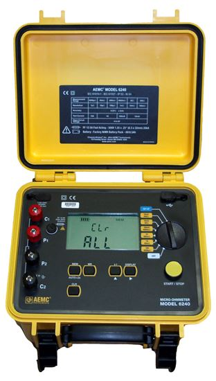 Picture of AEMC 6240 10A, Instantaneous, Continuous, Multiple Test Micro-Ohmmeter