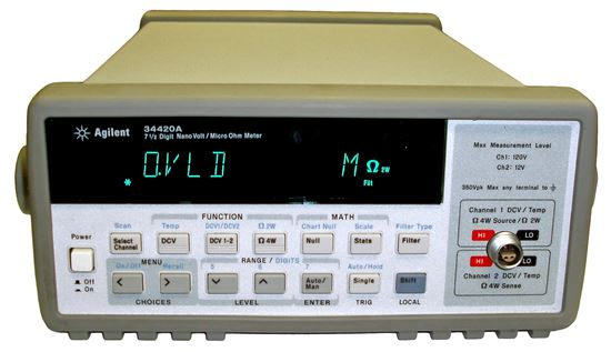 Picture of Agilent/HP 34420A Micro-Ohm Meter