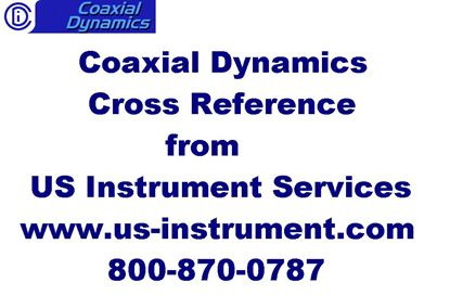 Picture of Discontinued Bird* Products to Coaxial Dynamics Cross Reference #6