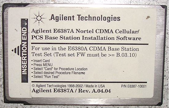 Picture of Agilent/HP E6387A 8935 Nortel CDMA Base Station Test Software