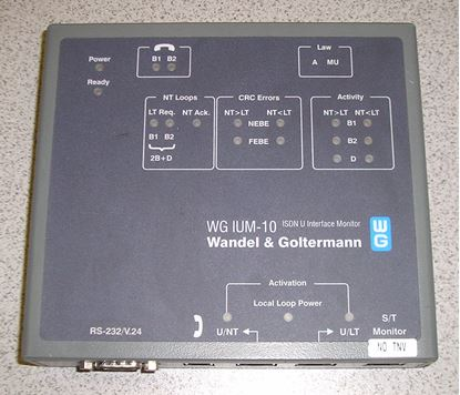 Picture of Acterna/WG IUM-10 ISDN U Interface Monitor