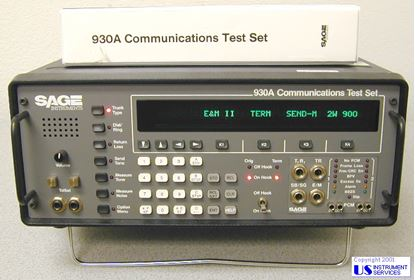 Picture of Sage Instruments 930A Analog/DS1 PCM Communications Test Set