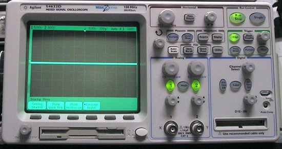 Picture Of Agilent HP 54622D Dual Channel 100 MHz Logic Analyzer Oscillscope