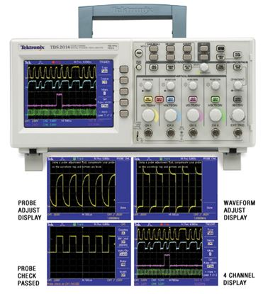 Picture of Tektronix TDS2014 100 MHz 4 Channel Oscilloscope New