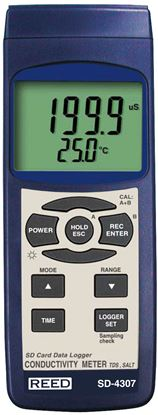 Picture of Reed SD-4307 Conductivity Meter with Datalogging New