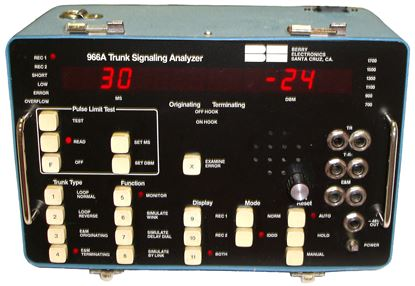 Picture of Berry 966A-L3 Trunk Signaling Analyzer Test Set