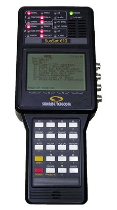 Picture of Sunrise Telecom Sunset E10 Advanced E1 Test Set