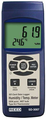 Picture of Reed SD-3007 Temperature/Humidity Meter with Datalogging New
