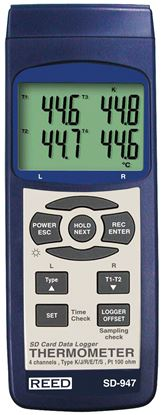 Picture of Reed SD-947 4 Channel Thermometer with Datalogging New